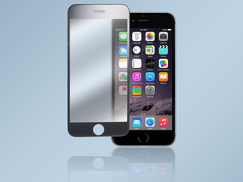 somikon randloses displayschutz cover iphone 6 s echtglas. Black Bedroom Furniture Sets. Home Design Ideas