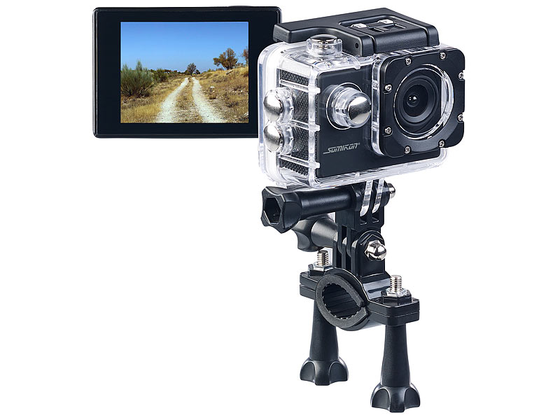 ; Webcams, Full-HD-Camcorder mit Touch-Screen und App-SteuerungAction-Cams HD