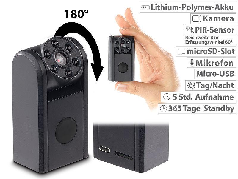 somikon mini hd berwachungskamera ir nachtsicht pir. Black Bedroom Furniture Sets. Home Design Ideas