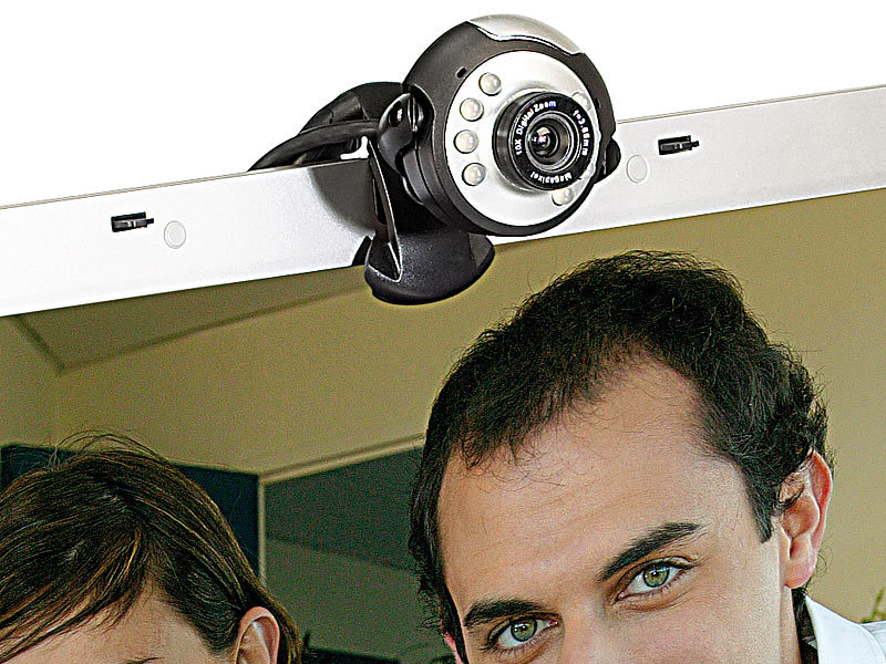 "Hochauflösende USB-Webcam SXGA ""Night Sight 1300"" mit LEDs"