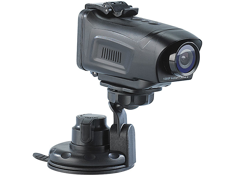 ; Full-HD-Camcorder mit Touch-Screen und App-Steuerung, Action-Cams HD