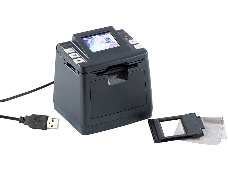 "Somikon 2in1 Dia & Negativ-Scanner mit 1,8""-TFT-Display, SD-Slot, USB"