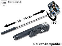 Somikon Mini-Bluetooth-Selfie-Stick für Smartphone & Action-Cam, 14  70 cm