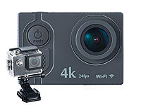 Somikon 4K-Action-Cam mit UHD-Video bei 24 fps, 16-MP-Sony-Sensor, IP68, WLAN
