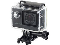 Somikon Einsteiger-4K-Action-Cam, Full HD (60 B./Sek.), mit Unterwassergehäuse; Action-Cams Full HD Action-Cams Full HD Action-Cams Full HD Action-Cams Full HD