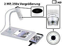 Somikon Digitales Mikroskop mit HD-Kamera und Ständer, 2 MP, 250x Vergrößerung; Webcams, WLAN-HD-Endoskopkameras für iOS- & Android-Smartphones Webcams, WLAN-HD-Endoskopkameras für iOS- & Android-Smartphones Webcams, WLAN-HD-Endoskopkameras für iOS- & Android-Smartphones Webcams, WLAN-HD-Endoskopkameras für iOS- & Android-Smartphones Webcams, WLAN-HD-Endoskopkameras für iOS- & Android-Smartphones
