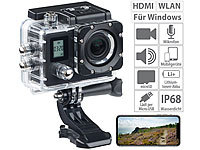 Somikon Einsteiger-4K-Action-Cam, WLAN, 2 Displays, Full HD 60 B./Sek., IP68