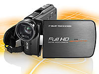 "Somikon Full-HD-Camcorder ""DV-920.HD"" mit optischem Zoom, 5 MP, HDMI; UHD-Action-Cams"