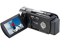 Somikon Full-HD-Camcorder DV-883.IR mit Infrarot-LED, HDMI, 10x-Zoom; UHD-Action-Cams UHD-Action-Cams
