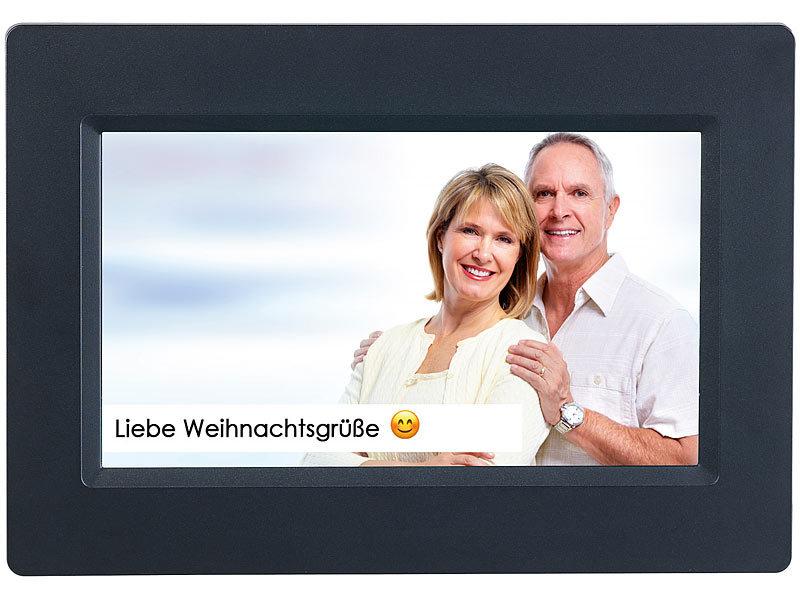 Somikon WLAN-Bilderrahmen mit 17,8-cm-IPS-Touchscreen & weltweitem ...