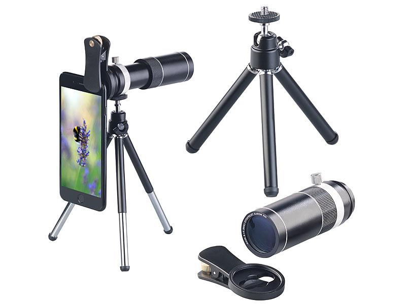 Somikon vorsatz tele objektiv für smartphones aluminium